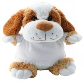 Grote knuffelhond (50 cm) met naam en/of geboortedatum