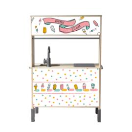Stickerset Ijssalon voor Ikea Duktig Speelgoedkeuken