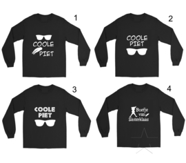 Set: longsleeve shirt diverse varianten en pietenmuts