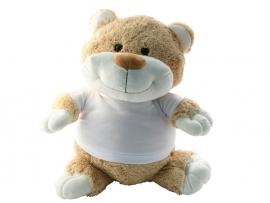 Knuffelbeer met foto of opdruk geboortekaartje