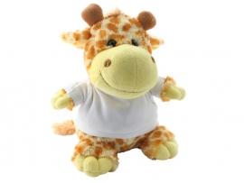Giraffeknuffel met foto of opdruk geboortekaartje