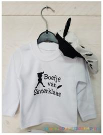 Longsleeve Shirt Boefje van Sinterklaas (wit)