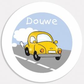Eetbordje Yellow Car met naam