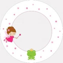 Eetbordje met geboortekaartje of foto