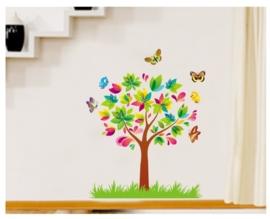 Boompje met vlinders en vogels - A7114