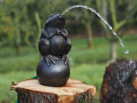 Tuinbeeld brons - bronzen beeld - kikker waterfontein - Bronzartes - Bronzartes