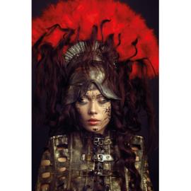 80 x 120 cm - Schilderij Dibond - Foto op aluminium - Fotokunst Aziatisch model - Mondiart - vrouw
