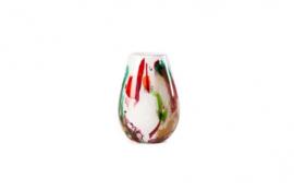 Design vaas Fidrio - glazen sculptuur - organic - Mixed colours - mondgeblazen - 20 cm hoog