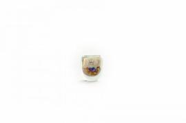 Design vaas Fidrio - glas kunst sculptuur - elips - Pearl Colorique - mondgeblazen - 11 cm hoog
