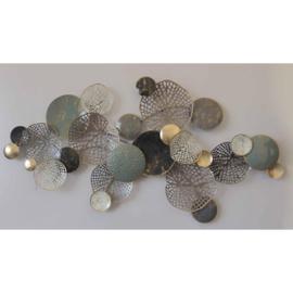 Metalen wanddecoratie - rondjes