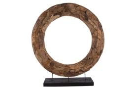 Houten kunst - Beeld - sculptuur - Houten ronde krans