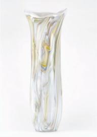 Design vaas Fidrio - Art Fine Lines - gekleurd glas - mondgeblazen - 57 cm hoog --
