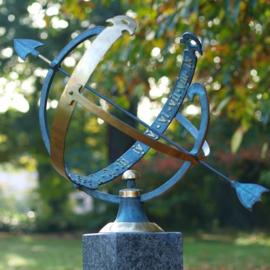 Zonnewijzer - bronzen wijzer - Sundir Aegle