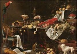 Plexiglas klassiek schilderij - Pronkstilleven - 120 x 80 cm
