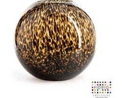 Design vaas Bolvaas - Fidrio LEPPARD - glas, mondgeblazen bloemenvaas - diameter 30 cm