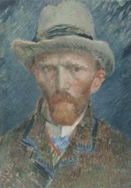 Foto op hout - Zelfportret - Vincent van Gogh