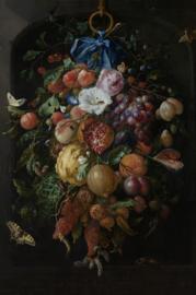 Foto op hout - Stilleven met bloemen