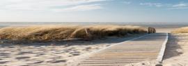150 x 60 cm - Canvas schilderij - strand - duinen - foto op canvas