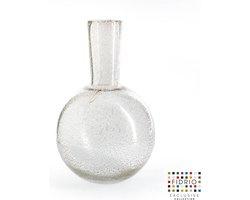 Design vaas Globe Large - Fidrio BUBBLES CLEAR - glas, mondgeblazen bloemenvaas - hoogte 40 cm