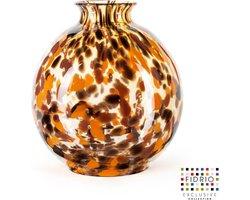Design vaas Bolvase with neck - Fidrio Havanna - Bloemenvaas glas, mondgeblazen - diameter 23 cm