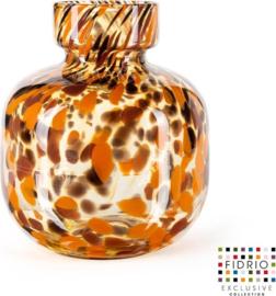 Design vaas Olympia Large - Fidrio Havanna - Bloemenvaas glas, mondgeblazen - hoogte 25 cm --