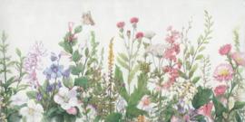 140 x 70 cm - Olieverfschilderij - Wilde bloemen - olie op canvas