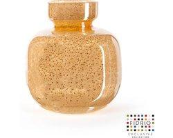 Design vaas olympia - Fidrio copper - glas, mondgeblazen bloemenvaas - hoogte 25 cm