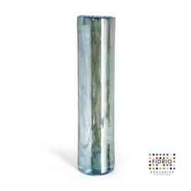 Design vaas Fidrio - glas kunst sculptuur - cilinder - Pearly - mondgeblazen - 53 cm hoog --