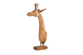 Houten kunst - Beeld - sculptuur - houten giraffe