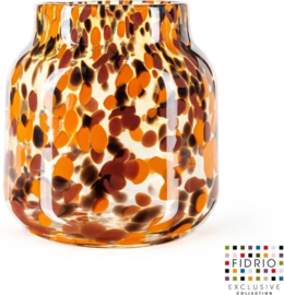 Design vaas Bloom - Fidrio Havanna - Bloemenvaas glas, mondgeblazen - hoogte 20 cm --