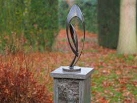 Tuinbeeld - modern bronzen beeld - Sculptuur 'Endless' klein - Bronzartes - 45 cm hoog