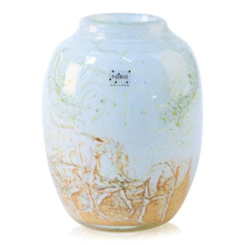 Design vaas Fidrio - glas kunst sculptuur - Amazone - Rusty - mondgeblazen - 24 cm hoog