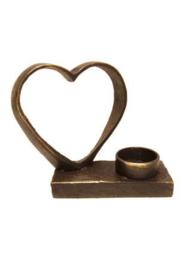 Urn brons - bronzen beeldje - sculptuur - in eeuwige liefde verbonden - 12 cm hoog - Martinique