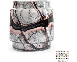 Design pot Puccini - Fidrio ONYX FLAME - glas, mondgeblazen - diameter 17 cm hoogte 20,5 cm --
