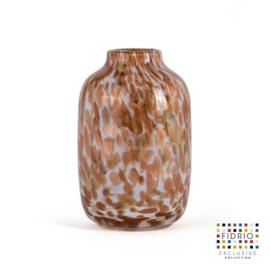 Design vaas Fidrio - Toronto gold - gekleurd glas - mondgeblazen - 27 cm hoog --