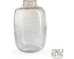 Design vaas Toronto - Fidrio BUBBLES CLEAR - glas, mondgeblazen bloemenvaas - hoogte 27 cm