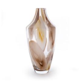 Design vaas Fidrio - glas kunst sculptuur - Marrone - Salerno - mondgeblazen - 33 cm hoog --
