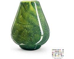 Design vaas venice - Fidrio AMAZONE - glas, mondgeblazen bloemenvaas - diameter 19 cm hoogte 25 cm