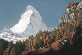 120 x 80 cm - Glasschilderij - schilderij fotokunst - Matterhorn berg - foto print op glas