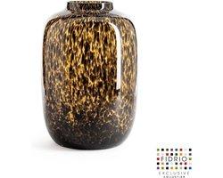 Design vaas Toronto - Fidrio TIGER - glas, mondgeblazen bloemenvaas - diameter 29 cm hoogte 40 cm --