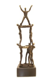 bronzen beeldje - sculptuur - abstract - Teambuilding