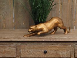 Beeld brons - Tuinbeeld - beeld luipaard - bronzartes