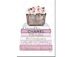 60 x 80 cm - Glasschilderij - Fashion Mode - Chanel