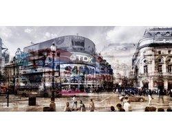 160 x 80 cm - Glasschilderij - Piccadilly Circus - Londen - schilderij fotokunst - foto print op glas