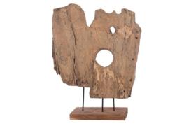 Houten kunst - Beeld - sculptuur - houtenplank