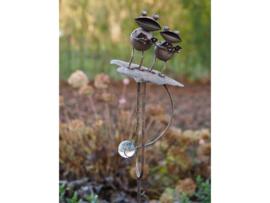 Metalen tuinsteker - tuindecoratie - Kikkers