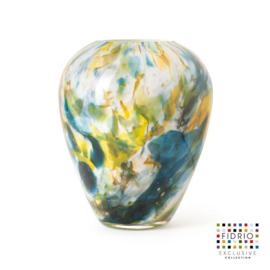 Design vaas Fidrio - glas kunst sculptuur - Alore colori - mondgeblazen - 22 cm hoog