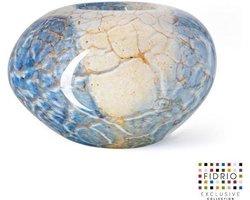 Design vaas Naturalis - Fidrio GOLDEN WIRE - glas, mondgeblazen bloemenvaas - diameter 29 cm hoogte 17 cm