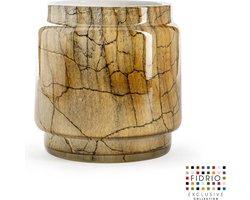 Design vaas Pot - Fidrio DESERT - glas, mondgeblazen bloemenvaas - diameter 17 cm hoogte 20,5 cm