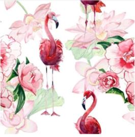Foto op hout - Flamingo Rozen